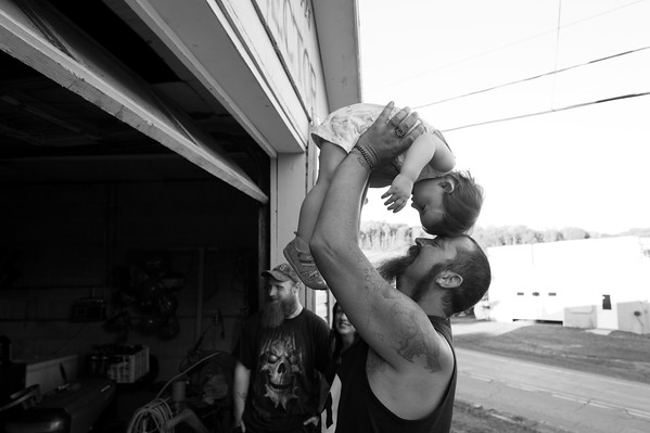 6/24/2017. Dan with his youngest daughter during a meet & greet he hosted in an effort to recruit new members.