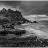 Dunluce castle black and white