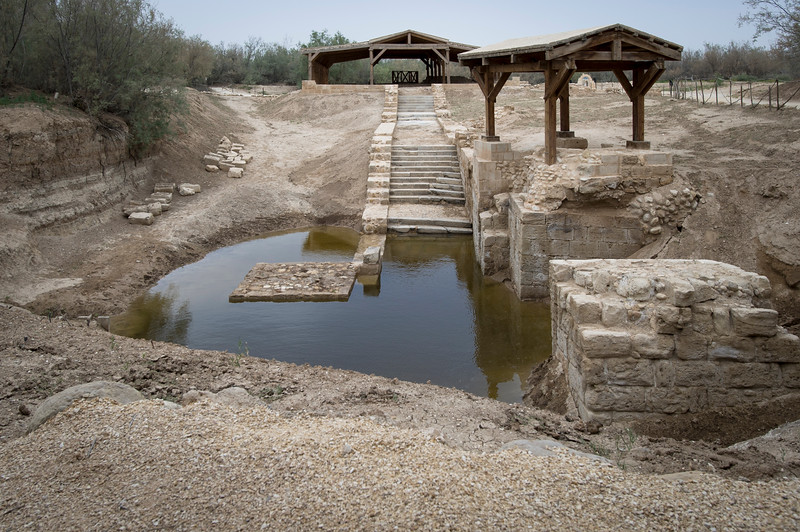 """Jordan. The Baptism Site """"Bethany beyond the Jordan"""" (Al-Maghtas) is located in the Jordan Valley, north of the Dead Sea. The site contains two distinct archaeological areas, Tell el-Kharrar, also known as Jabal Mar Elias, and the area of the Churches of St. John the Baptist. """"Bethany beyond the Jordan"""" is of immense religious significance to the majority of denominations of Christian faith, who have accepted this site as the location where Jesus of Nazareth was baptised by John the Baptist."""