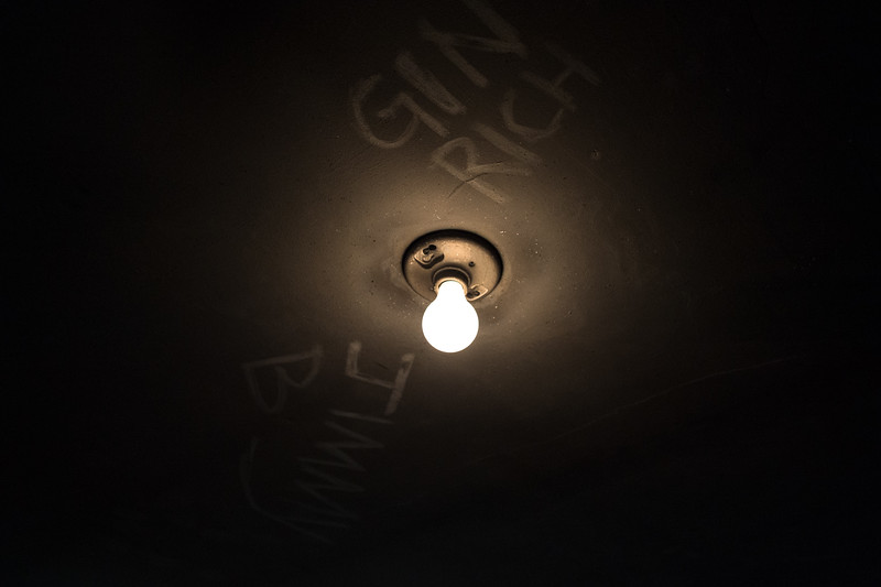 """Gin Rich,"" is painted on the ceiling of a former alcoholic and Vietnam veteran suffering from PTSD."