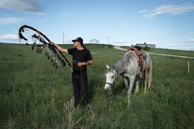 A vast and beautiful land, rich in history and spirituality; where Crazy Horse and Red Cloud once led their people, the Pine Ridge Reservation is the home of the Oglala Lakota. A space larger than the state of Connecticut, many Lakota struggle to retain their heritage, culture and their sustenance.