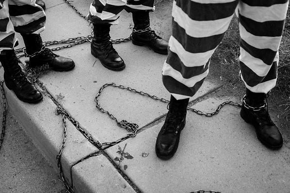 Female chain gang.