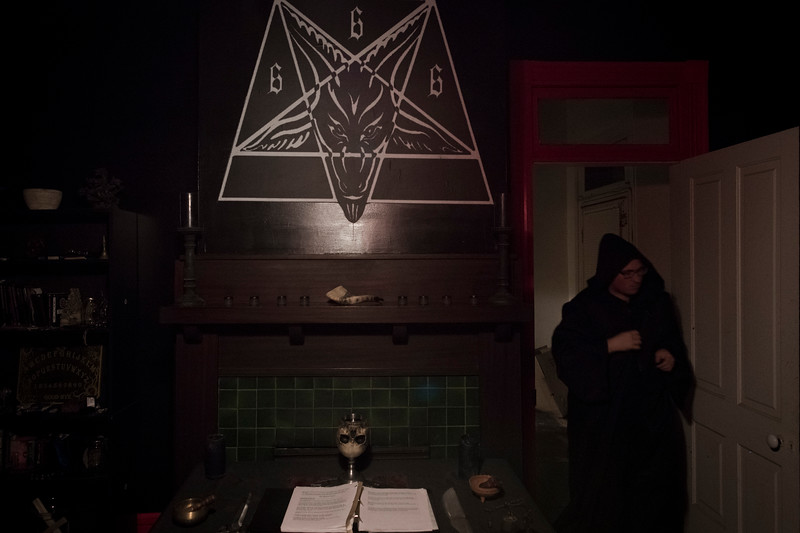 """Undisclosed location. South Carolina. The Sigil of Baphomet<br /> <br /> Baphomet first appeared in the trial transcripts for the Knights Templar in the 14th century. By the 19th century, the name had come into popular English language. Dating back to 1856, the name of Baphomet has been associated with a goat headed creature that was drawn by Eliphas Levi. Levi was an author of the occult by way of France. This drawing included elements that stand for the sum total of the universe. <br /> <br /> In the time the Baphomet was drawn, Levi's intention was to create a symbolization of his concept of """"the equilibrium of the opposites."""" It was a large part of his notion of Astral Light. On the other hand, the Baphomet stands for a sacrilegious tradition that is supposed to give rise to a perfect social order."""