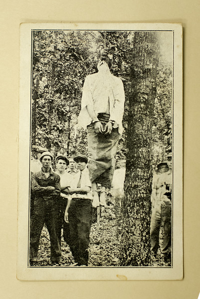An original photograph of the Leo Frank lynching.<br /> (Cuba Family Archives for Southern Jewish History).<br /> <br /> Leo Frank was convicted of murdering Mary Phagan, a 13-year old employee at a factory where Mr. Frank was the superintendant.<br /> <br /> The case attracted national attention with many deeming the conviction as a travesty. Within Georgia, the outside criticism was the catalyst for an upsurge of anti-Semitism and hatred towards Frank, who was Jewish. After a judge commuted Frank's sentence from capital punishment to life in prison, a  group of men who anointed themselves the Knights of Mary Phagen kidnapped Frank and lynched him in Phagan's hometown of Marietta, GA on August 17th, 1915.<br /> <br /> The lynching of Leo Frank led to the rebirth of the Ku Klux Klan.