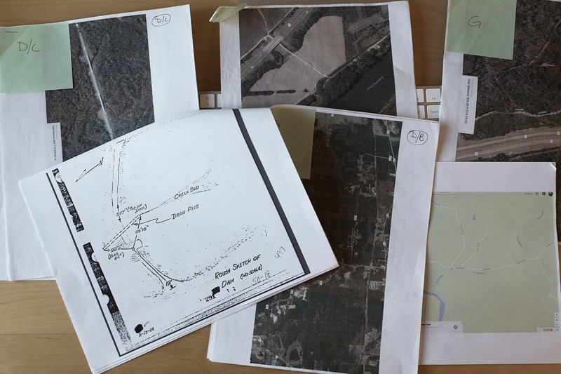 FOIA documents and satellite imagery used in locating some of the sites in my project.