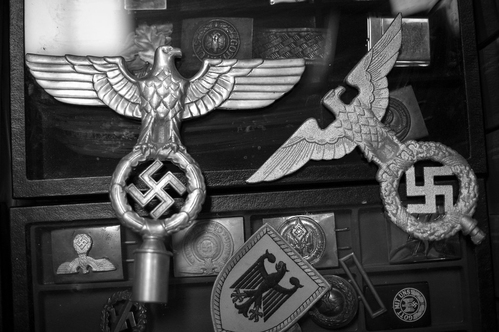 Various items for sale at the NSM (National Socialist Movement)  Annual Congress. New Jersey.