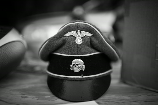 A German officers cover for sale at the annual Oi Fest. Arizona.