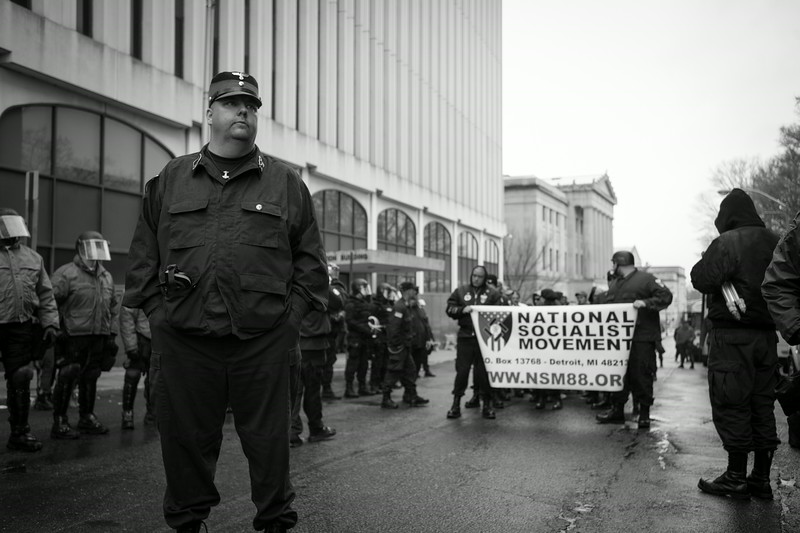 Members of the America's largest Nazi organization, the National Socialist Movement. New Jersey.