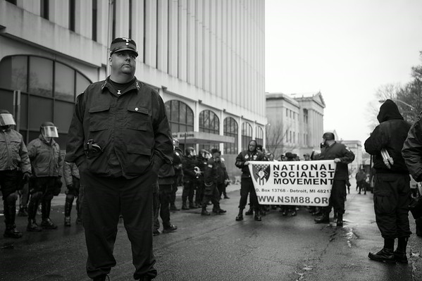 Members of the America's largest Nazi organization the National Socialist Movement. New Jersey.