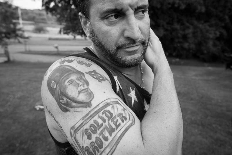 "7/18/2020. A long time white nationalist who serves as an advisor to NSC-131, a newly formed fascist and white nationalist group out of the Boston area. One of his catchphrases used when vouching for a fellow comrade is ""he's a Solid Brother"" as depicted in his upper arm tattoo."