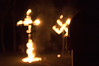 A Ku Klux Klan cross lighting ceremony and Swastika lighting – according to Klan ideology, the fiery cross signifies the light of Christ and also meant to bring spiritual truth to a world that is blinded by misinformation and darkness.