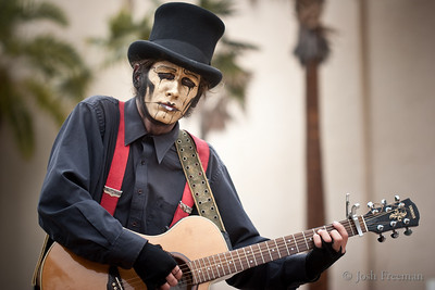 June 1, 2009  The Jon from Steam Powered Giraffe musical mime troop  Check out a bunch more photos I took as well