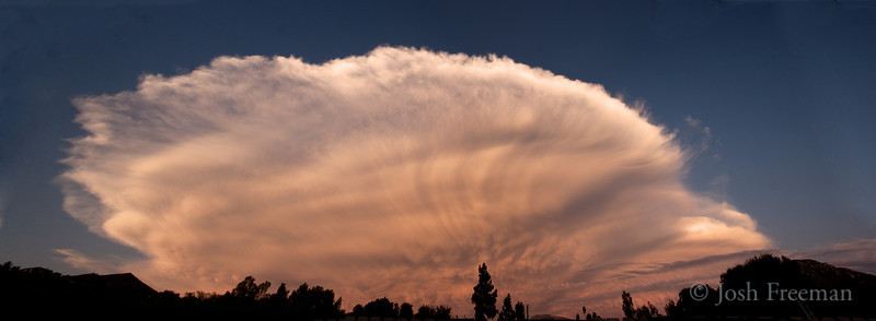 September 9, 2009<br /> <br /> Thundercloud from Sunday. This thing was huge. This is 6 shots combined at 15mm. It covered half the sky.