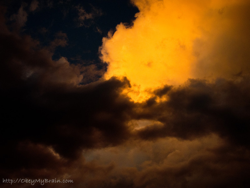 September 23, 2011 - The sky caught fire tonight