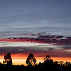 February 8, 2007<br /> <br /> Last night's sunset.<br /> <br /> This is a photo merge of 19 8.2 Mpix shots using Photoshop CS3's new merge tools. Original size is 16696 x 5242, 87.5 megapixels scaled down for upload.