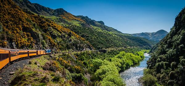 The Journey into the Magic Land Taieri Gorge Railway Dunedin Otago