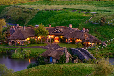 The Green Dragon Inn Hobbiton Movie Set Matamata New Zealand