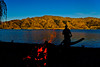 Summer + Beach + Fire + Lake Hawea = Bliss.
