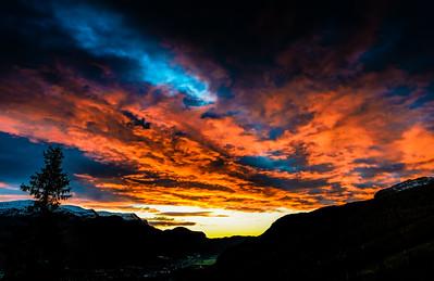 Hemsedal Sunset Hemsedal Hallingdal Norway