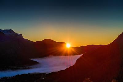 Hemsedal Sunrise Hemsedal Hallingdal Norway