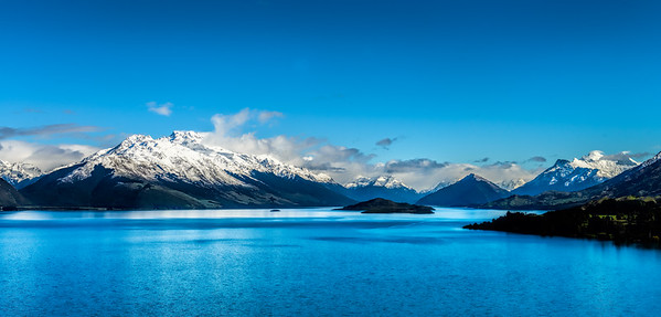 Fresh snow in the Wizards Vale The road to Glenorchy Queenstown New Zealand