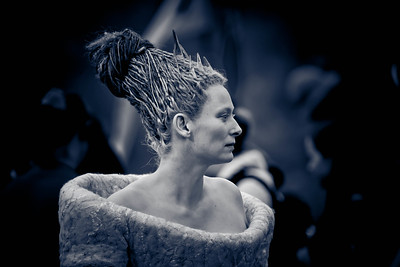 One of my favourite actresses and a wonderful person Tilda Swinton taken on the set of The Lion, The Witch and The Wardrobe