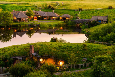 The View Across The Water Hobbiton Movie Set