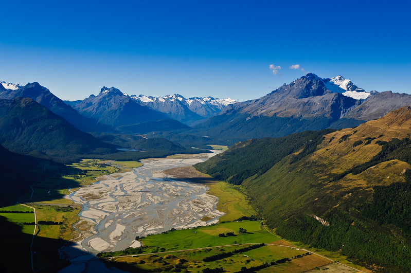 Looking into the Wizards Vale<br /> Glenorchy, New Zealand