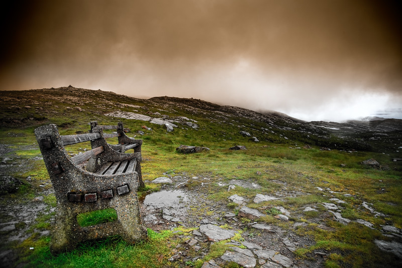 A Seat in the Clouds<br /> The road between Shieldag and Applecross.