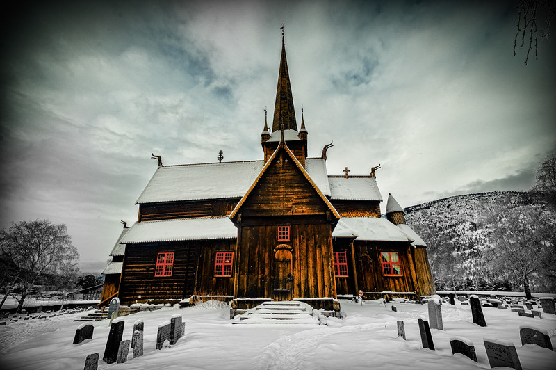 The Stave Church<br /> Lom<br /> Norway