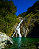 Waterfall<br /> Mt Aspiring National Park<br /> The clearest water in the world!