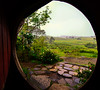 Sheltering from the rain<br /> Hobbiton Movie Set