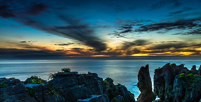 It was magic, the sunset, the rocks, the West Coast Punakaiki South Island New Zealand