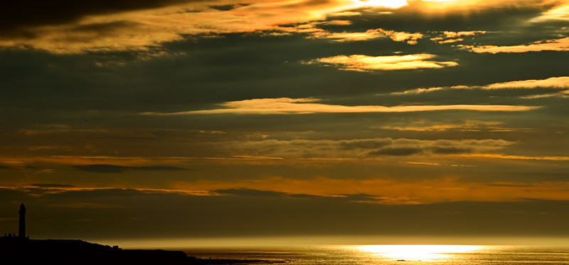 A late sunset<br /> Lossiemouth