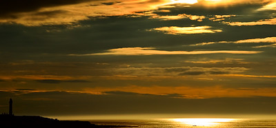 A late sunset Lossiemouth