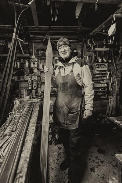 With Trevor Dowe at Gaustablikk<br /> An amazing artist who hand crafts traditional Telemark skis.<br /> Gaustablikk<br /> Rjukan<br /> Norway