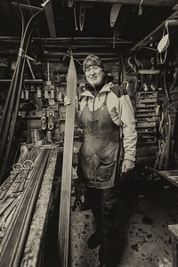 With Trevor Dowe at Gaustablikk An amazing artist who hand crafts traditional Telemark skis. Gaustablikk Rjukan Norway
