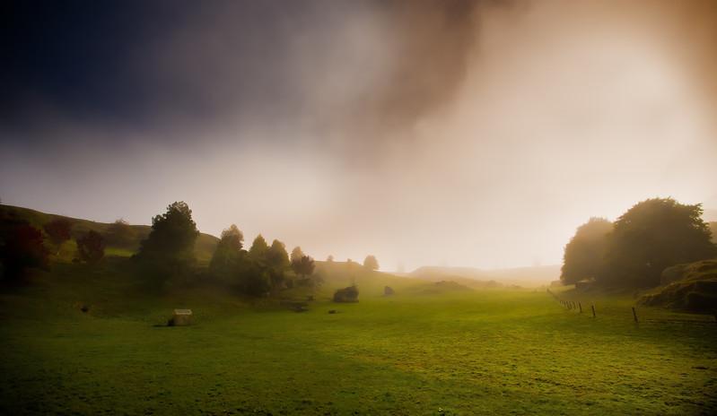 One misty, moisty morning.........