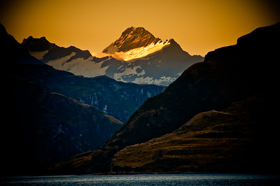 Mt Aspiring at Sunset.