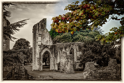 And Did Those Feet In Ancient Times  The leaves may falter But the stones will remain forever Glastonbury Abbey Somerset England