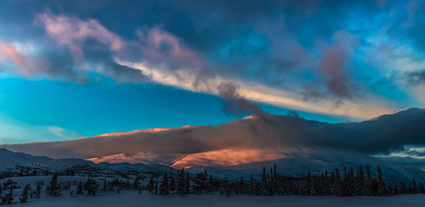 A Country of Beauty Sunrise Pink Gaustatoppen Rjukan Norway