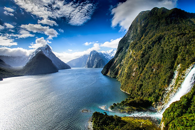 Milford Sound by helicopter Nothing finer! Milford Sound Fiordland New Zealand