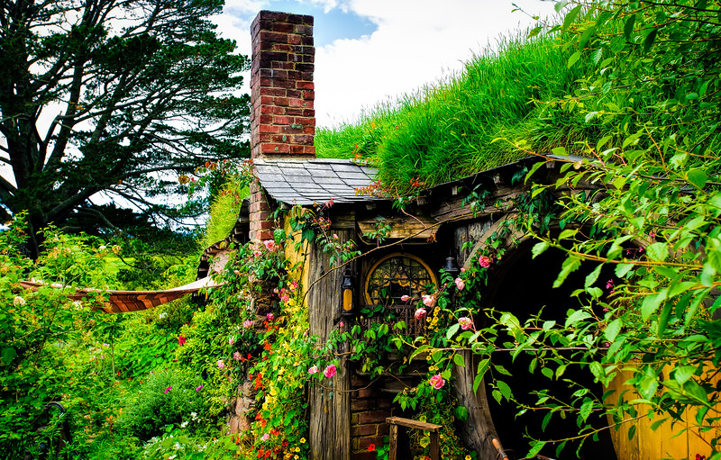 I Love Roses at the Door Hobbiton Movie Set Matamata New Zealand