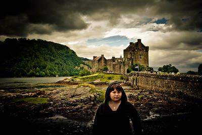 Sally-Anne at Eilean Donan Castle