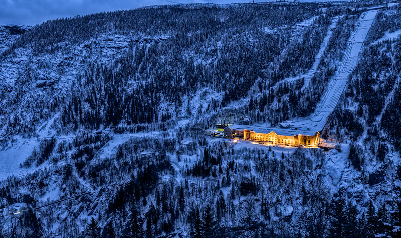 Vemork at Night<br /> Rjukan<br /> Norway