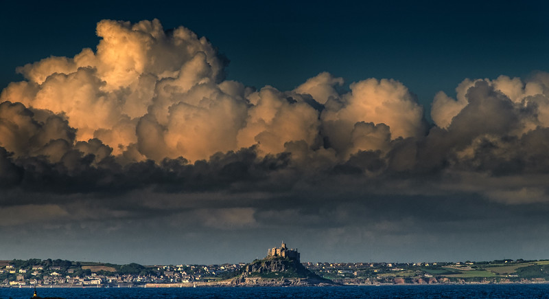 Staring at St Michael's Mount from Penzance