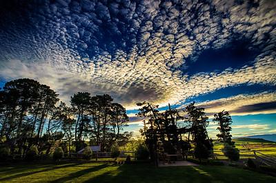 Sunset at Pukerangi Middlemarch Strath Taieri
