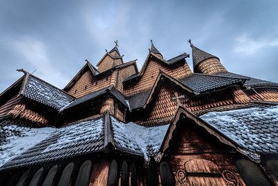 Heddal Stave Church Notoden Norway The church is a triple nave stave church and is Norway's largest stave church. It was constructed at the beginning of the 13th century.