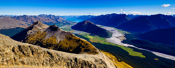 A view over The Misty Mountains into The Wizards Vale Glenorchy New Zealand