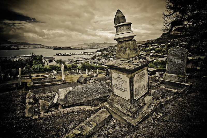 "Beware The Frighteners<br /> Cemetery in Lyttelton used by Peter Jackson in ""The Frighteners"""